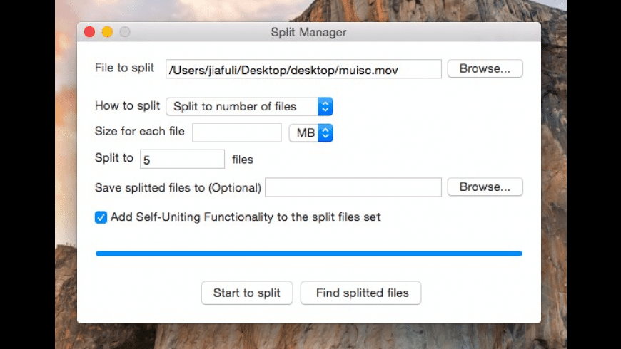 EasySplitMerge for Mac - review, screenshots