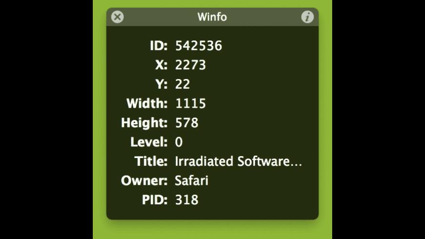 Winfo for Mac - review, screenshots