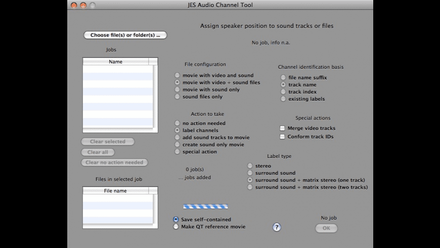 JES Audio Channel Tool for Mac - review, screenshots