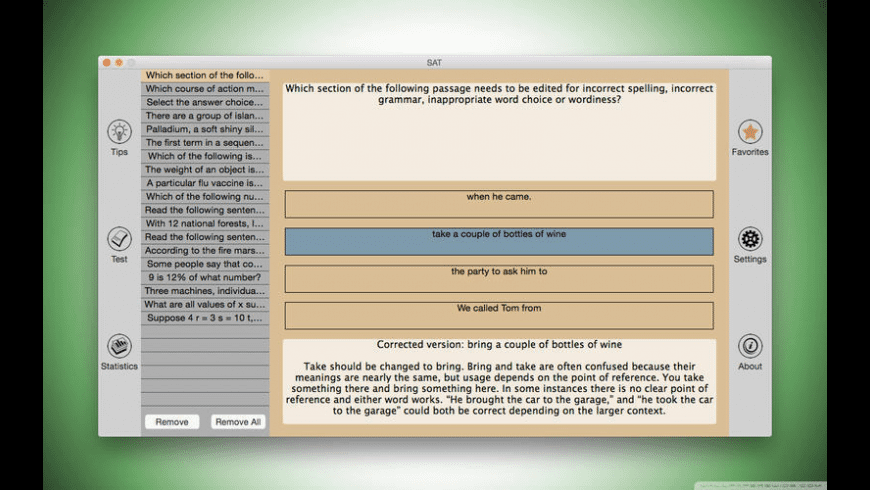 SAT for Mac - review, screenshots