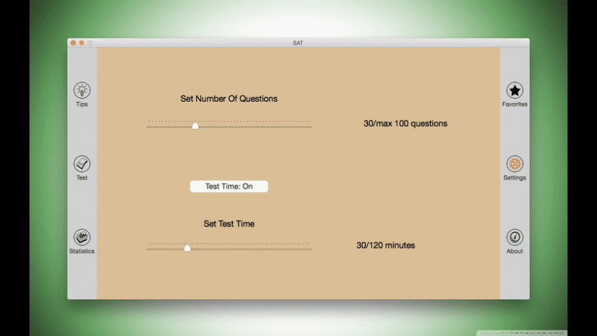 SAT for Mac - review, screenshots