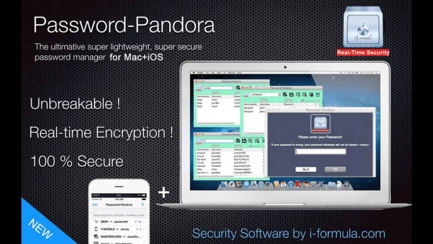 Password Pandora for Mac - review, screenshots