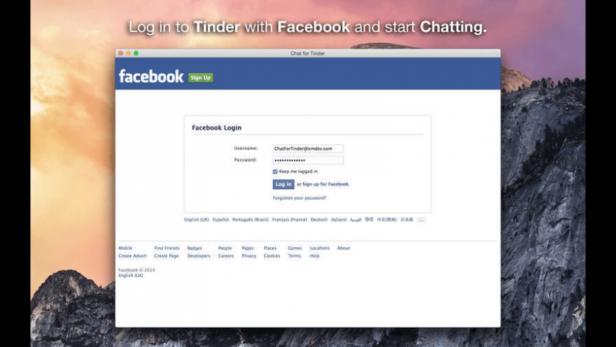 Chat for Tinder for Mac - review, screenshots