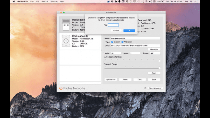 RadBeacon for Mac - review, screenshots