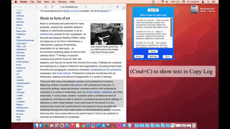 Copy Log for Mac - review, screenshots