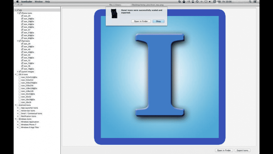 Icon Scaler for Mac - review, screenshots