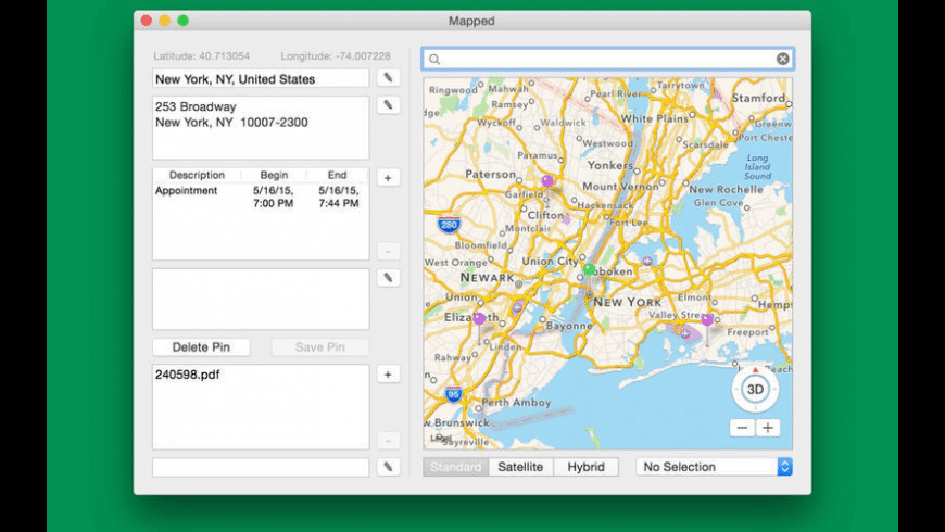 Mapped for Mac - review, screenshots