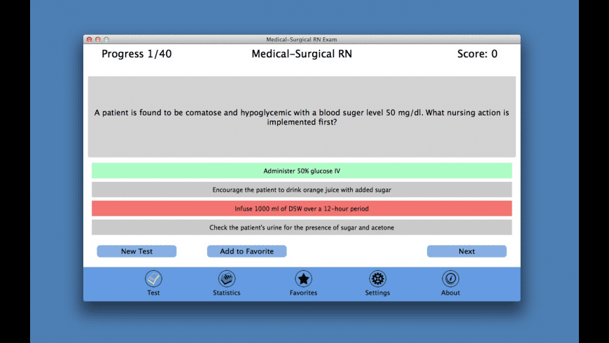 Medical-Surgical RN Exam for Mac - review, screenshots