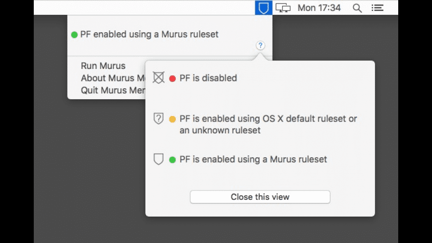 Murus Menulet for Mac - review, screenshots