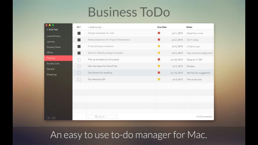 Business ToDo for Mac - review, screenshots