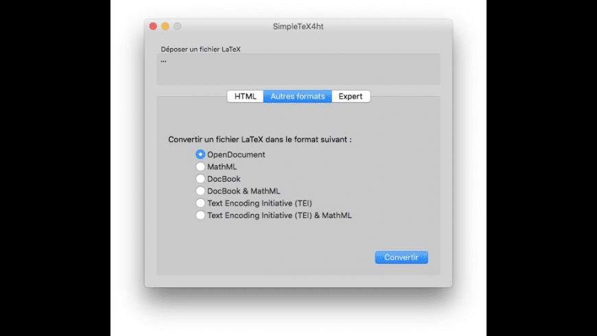 SimpleTeX4ht for Mac - review, screenshots