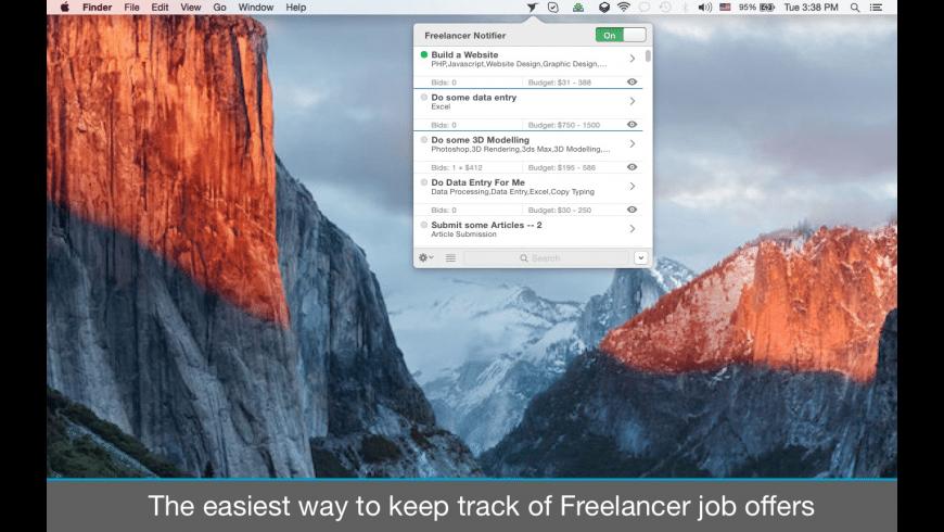 Freelancer Notifier for Mac - review, screenshots