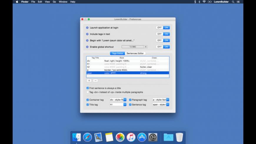 LoremBuilder for Mac - review, screenshots