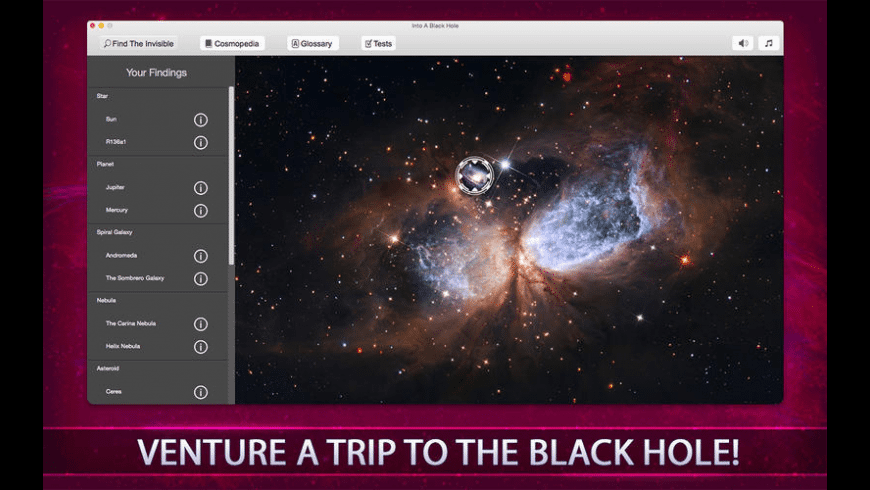 Into A Black Hole for Mac - review, screenshots