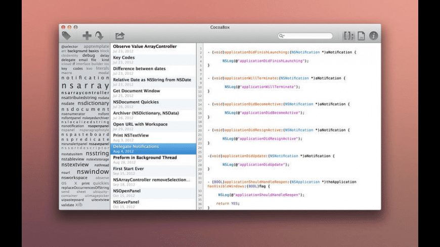 CocoaBox for Mac - review, screenshots