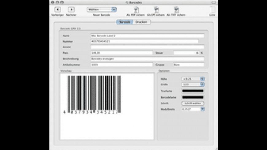BarcodeLabel for Mac - review, screenshots