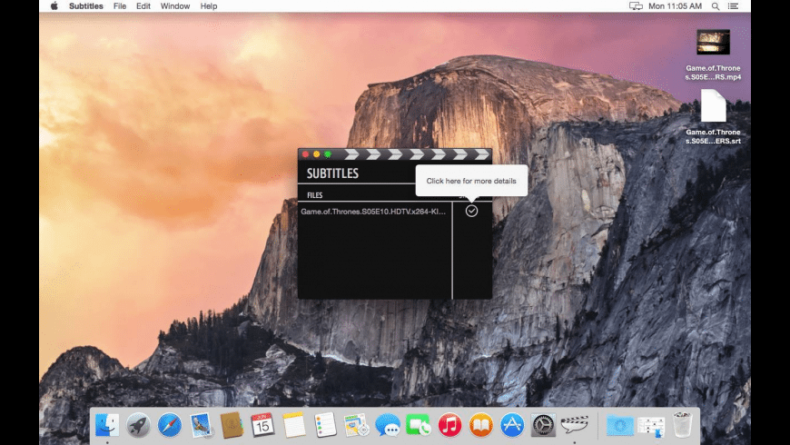 Subtitles for Mac - review, screenshots