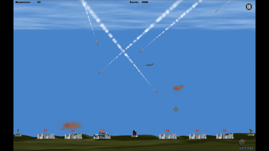 Missile Commander for Mac - review, screenshots