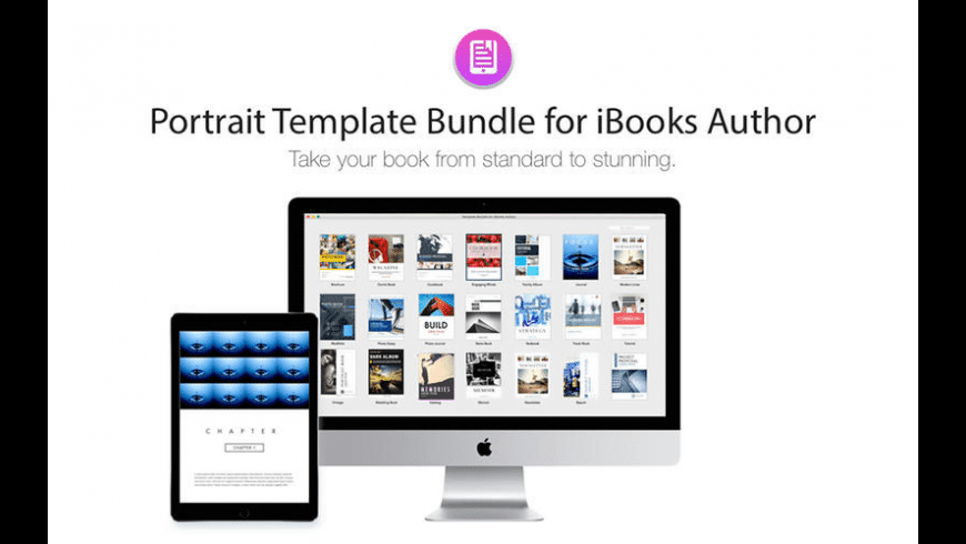 Portrait Templates iBooks Author Edition for Mac - review, screenshots