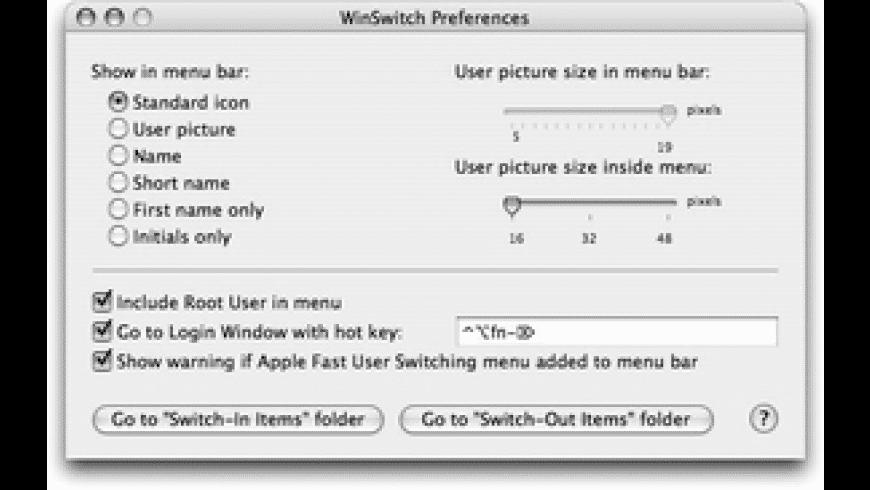 WinSwitch for Mac - review, screenshots