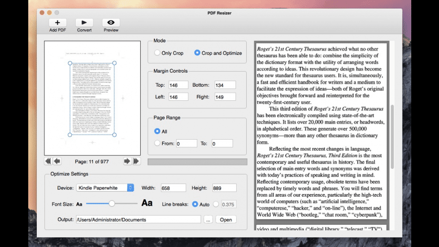 PDF Resizer for Mac - review, screenshots