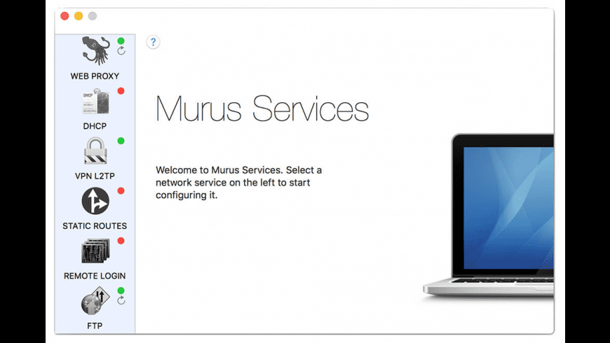 Murus Services for Mac - review, screenshots