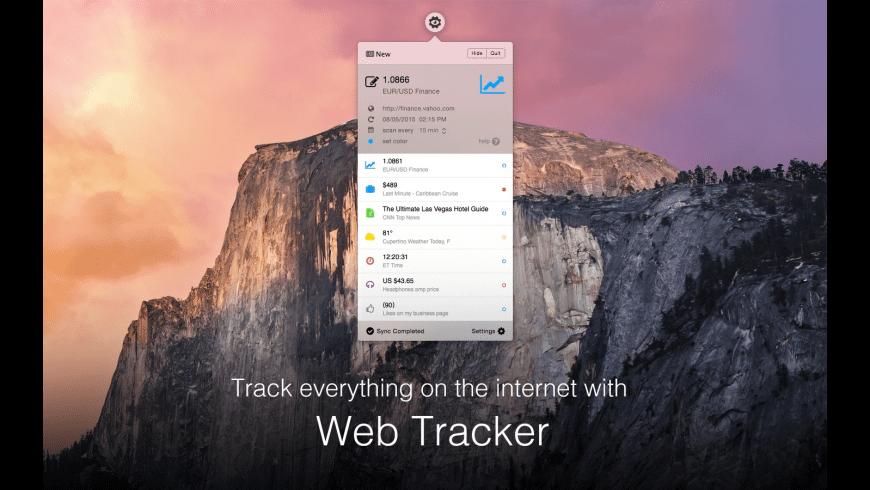 Web Tracker for Mac - review, screenshots