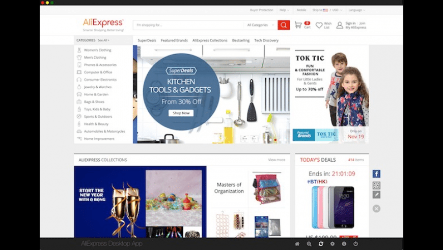 AliExpress Desktop for Mac - review, screenshots