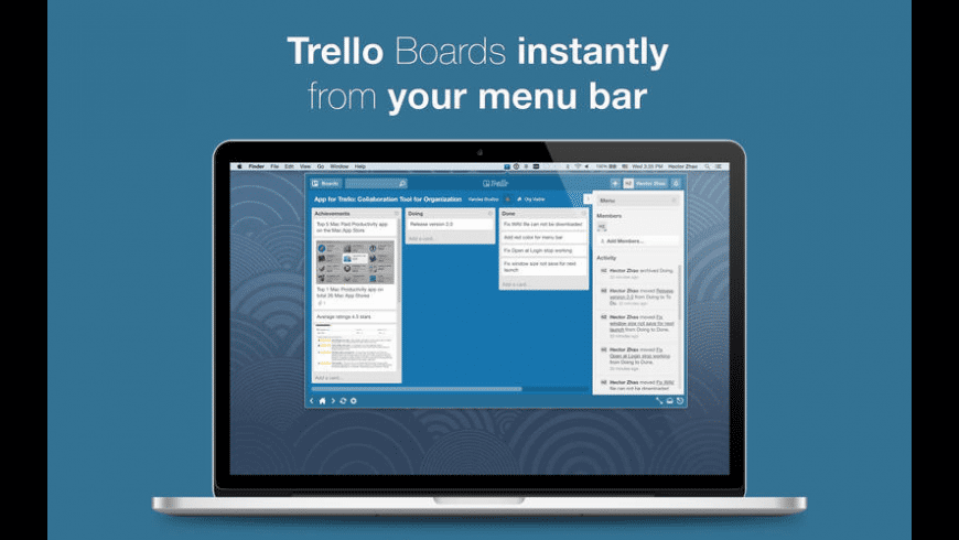 App for Trello for Mac - review, screenshots
