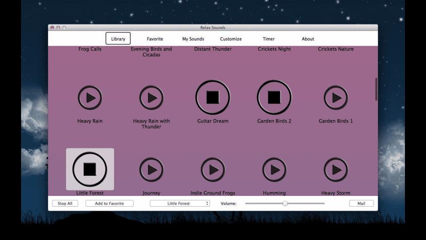 Relax Sounds for Mac - review, screenshots