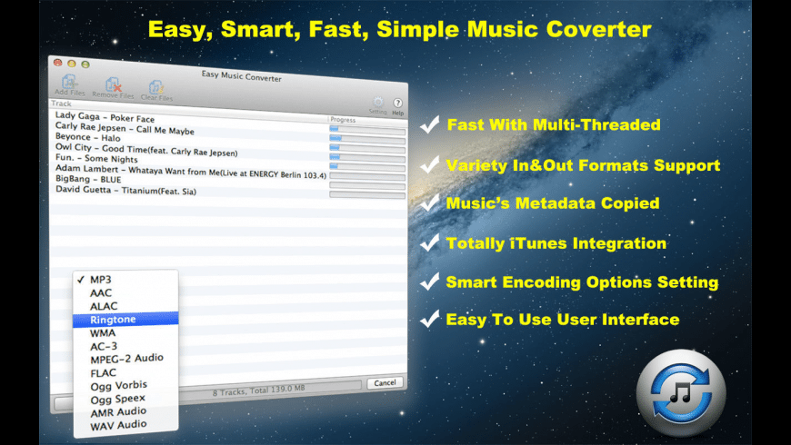 Easy Music Converter for Mac - review, screenshots