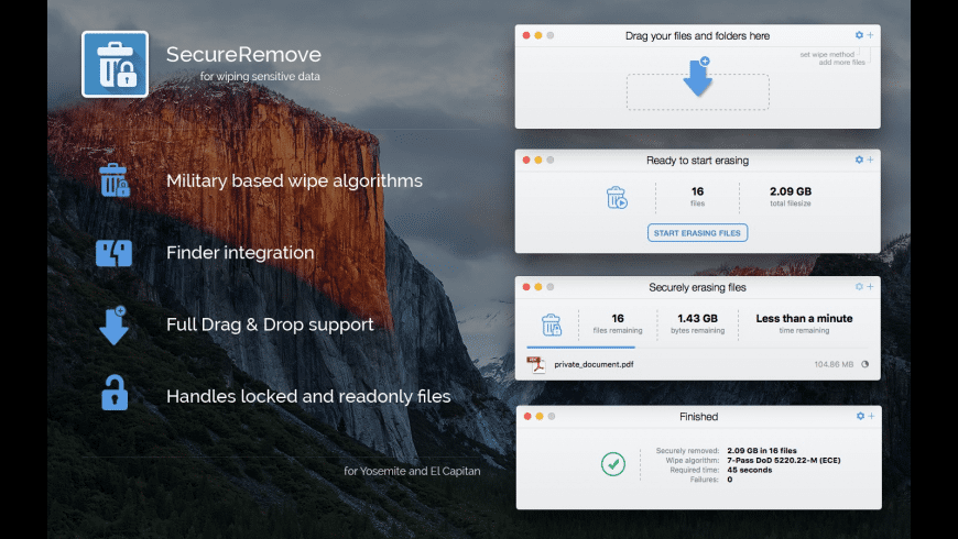 SecureRemove for Mac - review, screenshots