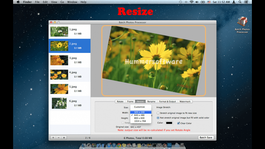 Batch Photos Processor for Mac - review, screenshots