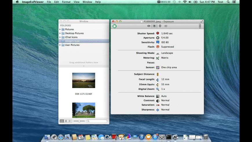 Image Exif Viewer for Mac - review, screenshots