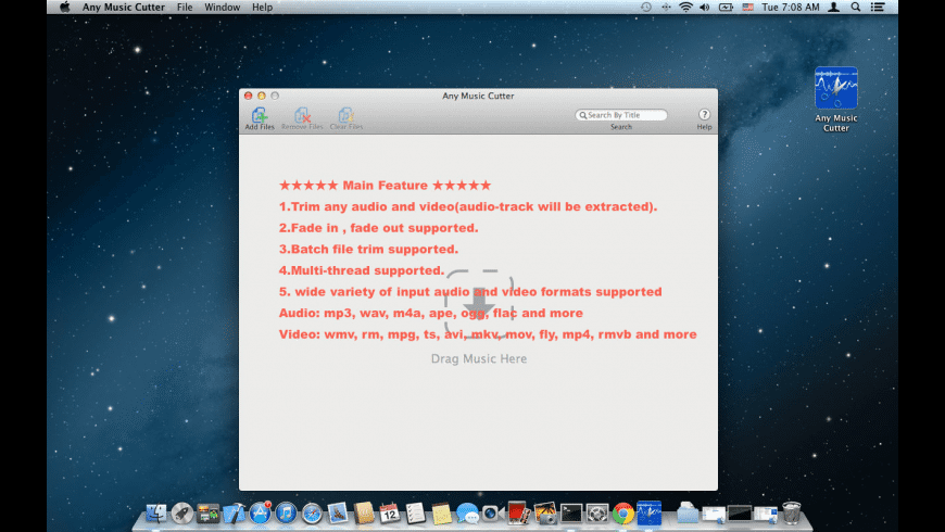 Any Music Cutter for Mac - review, screenshots