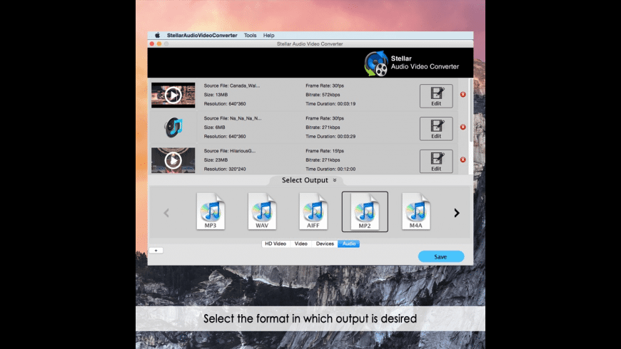 Stellar Audio Video Converter for Mac - review, screenshots