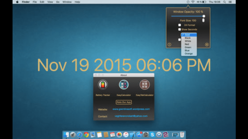 BackgroundClock for Mac - review, screenshots