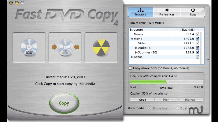 Fast DVD Copy for Mac - review, screenshots