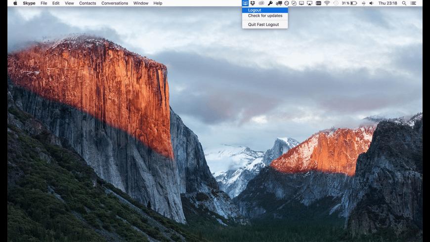 Fast Logout for Mac - review, screenshots