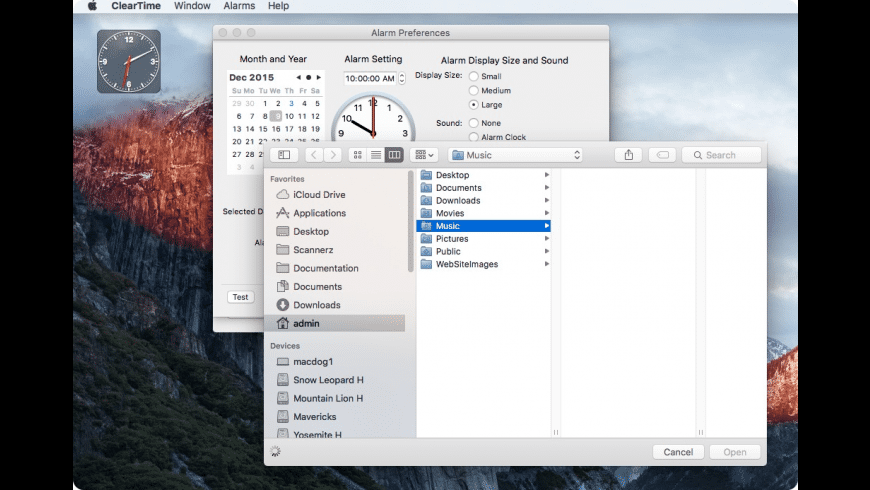 ClearTime for Mac OS X for Mac - review, screenshots