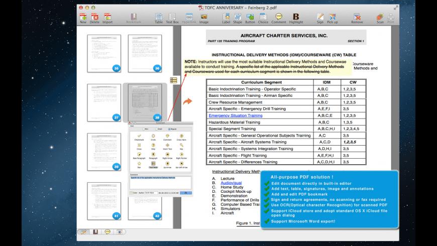 PDF Editor Pro for Mac - review, screenshots