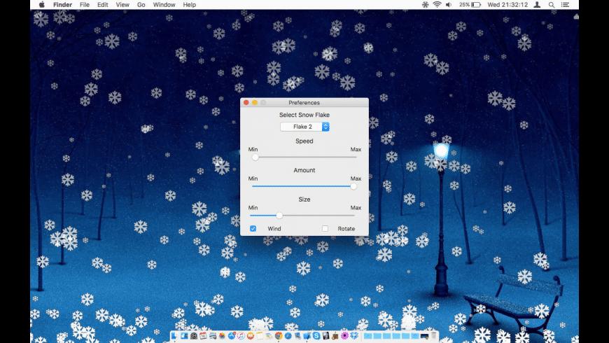 SnowFall for Mac - review, screenshots