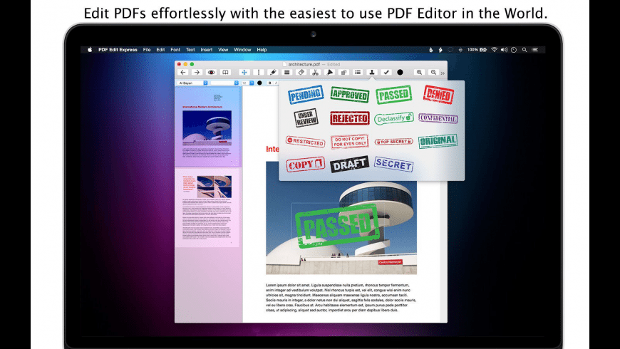 PDF Edit Express for Mac - review, screenshots