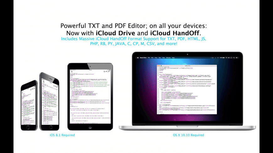 TXT Write for Mac - review, screenshots