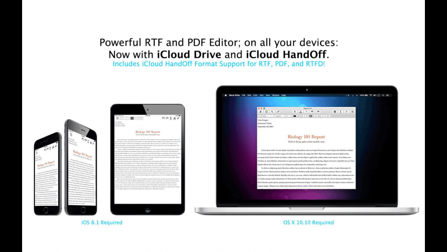 RTF Write for Mac - review, screenshots