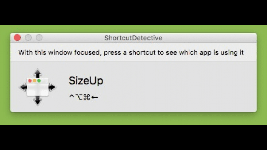 ShortcutDetective for Mac - review, screenshots