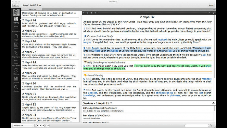 LDS Scriptures for Mac - review, screenshots