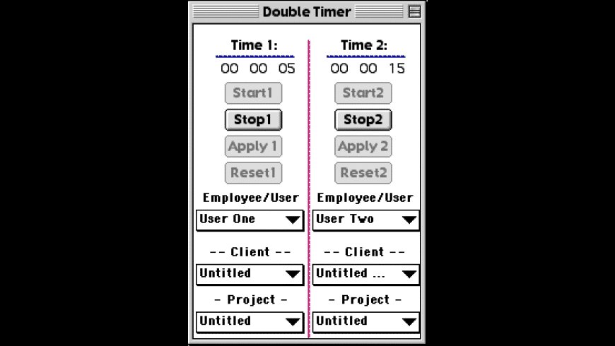 Double Timer for Mac - review, screenshots