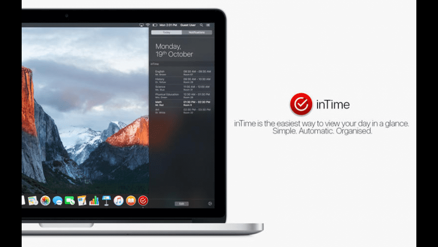 inTime for Mac - review, screenshots