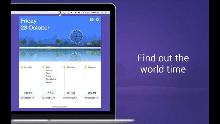 World Time Zones for Mac - review, screenshots